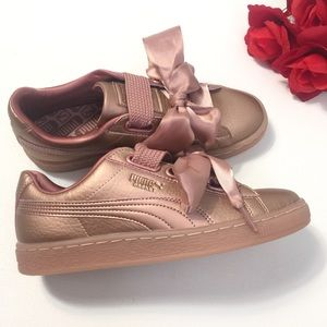 new concept 3e00e e70f7 Puma Basket Heart Copper Sneaker